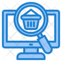Search Shop Laptop Icon