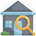 House Magnifying Glass Icon