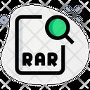 Search Rar File Icon
