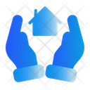 Hand House Safe Icon