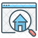 Website Find Home Magnifier Icon