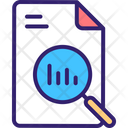 Search Report Search Data Report Analysis Icon
