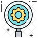 Search Settings Magnifier Magnifying Lens Icon