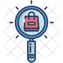 Kartboard Find Search Shopping Bag Icon