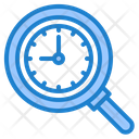 Search Time Search Magnifly Glass Icon