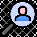 Search Person Magnify Glass Icon