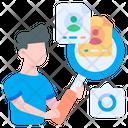 Search Recruitment Employee Icon