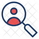 User Profile Magnifier Icon
