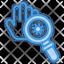 Virus Bacteria Hand Icon