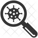 Bacteria Search Virus Icon