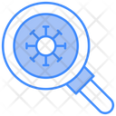 Search Virus Scan Bacteria Icon