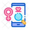 Search Woman Love Icon