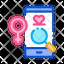Love Female Search Icon
