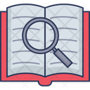 Search Word Find Word Open Book Icon