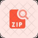 Search Zip File Search File Search Document Icon