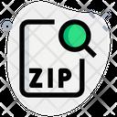 Search Zip File Icon
