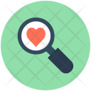 Searching Love Magnifier Icon