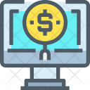 Searching for money Icon