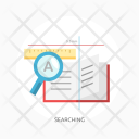 Searching Education E Learning Icon