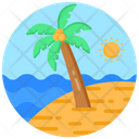 Seaside Beach Seashore Icon