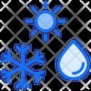 Season Snowflake Drop Icon