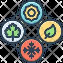 Seasonal Recurring Periodic Icon