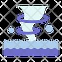 Seastorm Hurricane Climate Change Icon