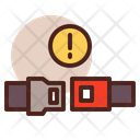 Up Seat Belt Buckle Up Icon