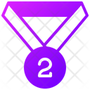 Second Place Medal Second Number Medal Medal Icon