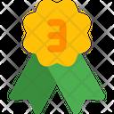 Second Rank Badge Bronze Icon