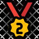 Second Rank Medal Bronze Icon