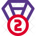 Second Rank Medal Second Rank Badge Icon