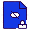 Secret Document Secret File Lock Document Icon
