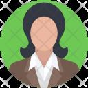 Secretary Female Worker Icon