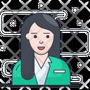Secretory Female Businesswoman Icon