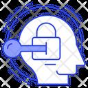 Brain Lock Privacy Secret Icon