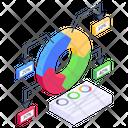 Pie Chart Data Analytics Sectional Pie Graph Icon