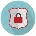 Shield With Padlock Icon