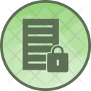 Secure Data Lock Icon