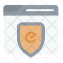 Secure Application Cryptocurrency Bitcoin Icon