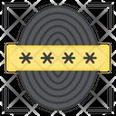 Secure Biometric Secure Thumbprint Biometry Icon