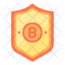 Security Money Bitcoin Cryptocurrency Secure Bitcoin Protected Bitcoin Icon