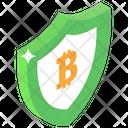 Secure Bitcoin Bitcoin Protection Bitcoin Savings Icon