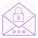 Message Email Lock Icon