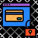 Website Card Lock Icon