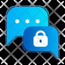 Communication Message Lock Icon