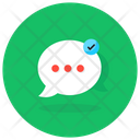 Secure Chat Protected Chat Verified Message Icon