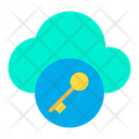 Cloud Key Password Icon
