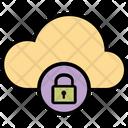 Lock Cloud Online Storage Lock Data Icon