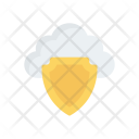 Secure Cloud Security Shield Icon